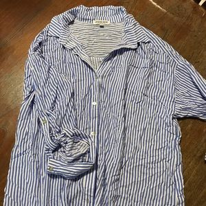 Stripped button down top